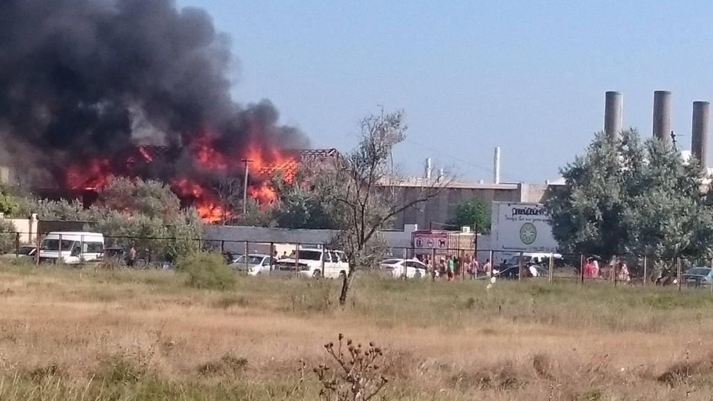 пожар в с. Поповка, Крым