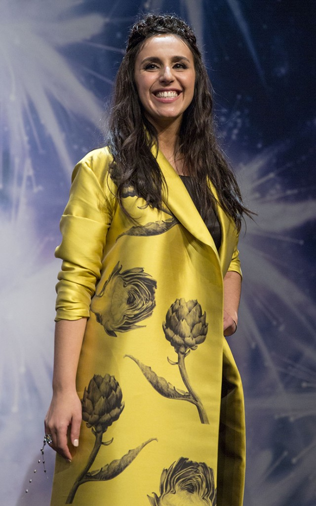 STOCKHOLM, SWEDEN - MAY 12: Finalist of the 2016 Eurovision Song Contest Crimean Tatar singer Susana Jamaladynova known as Jamala attends a press conference in Stockholm, Sweden on May 12, 2016. (Photo by Mehmet Kaman/Anadolu Agency/Getty Images)