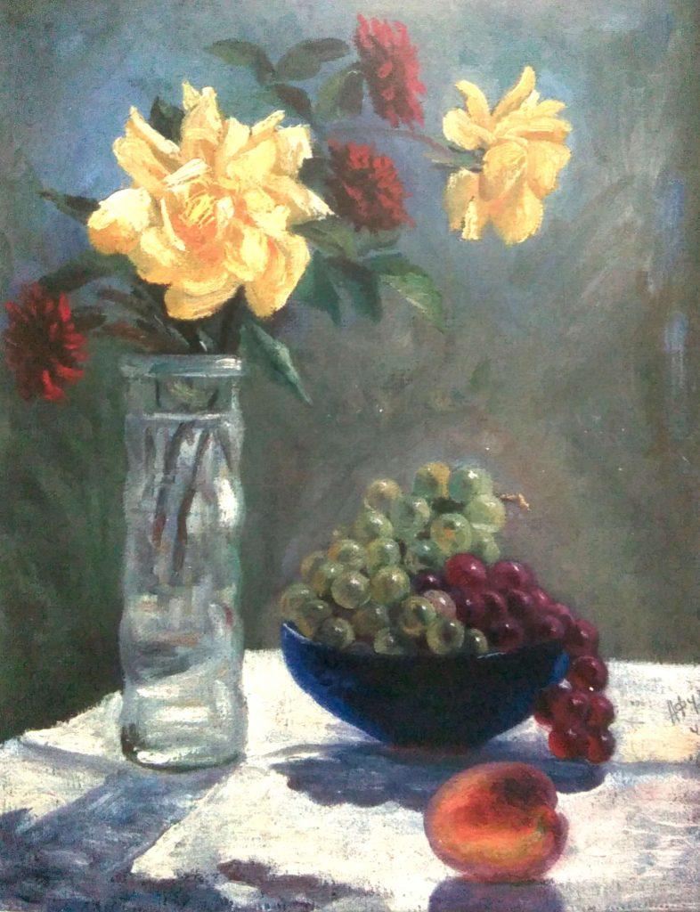 тохтар афузов, Натюрморт. Розы. 1940