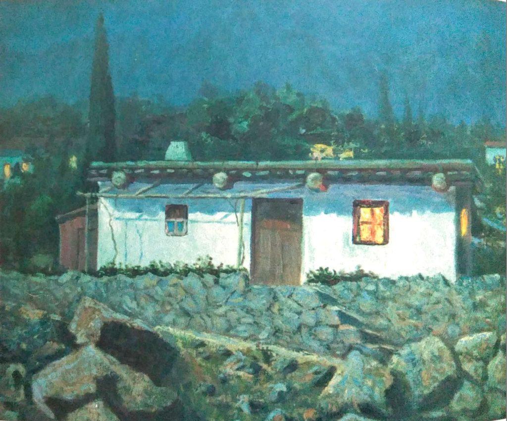 тохтар афузов, сакля при луне. 1937