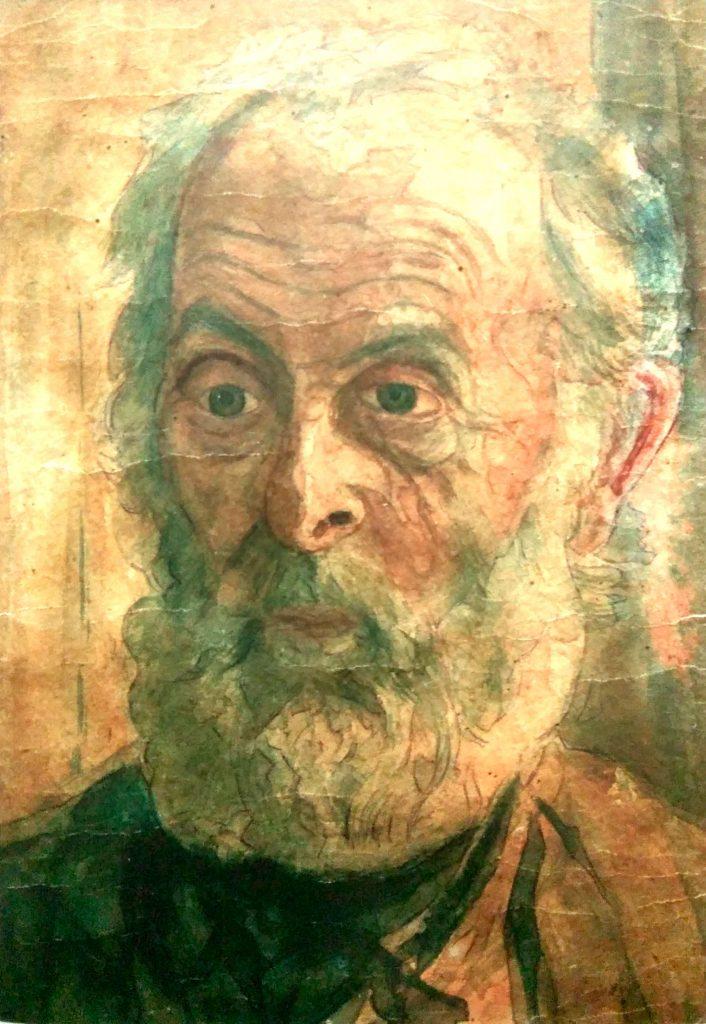 Амет Устаев. Портрет старика, 1950