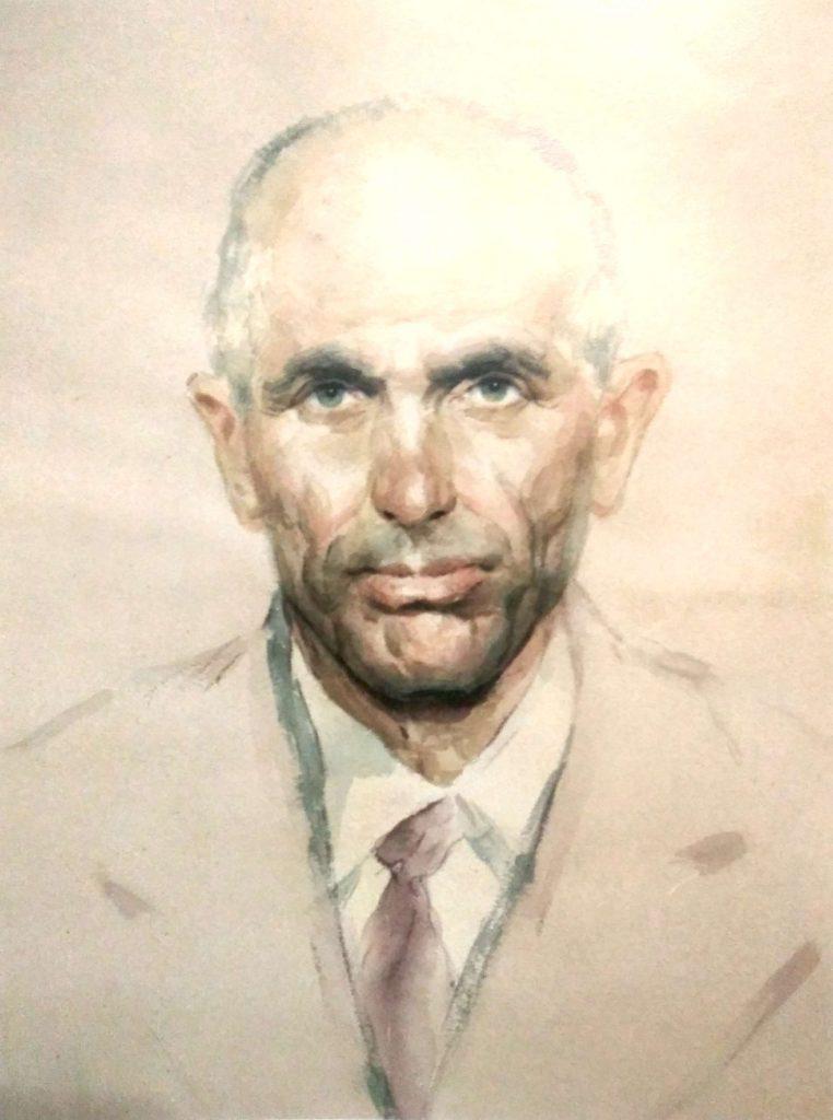 Осман Чубаров, Портрет мужчины, 1996