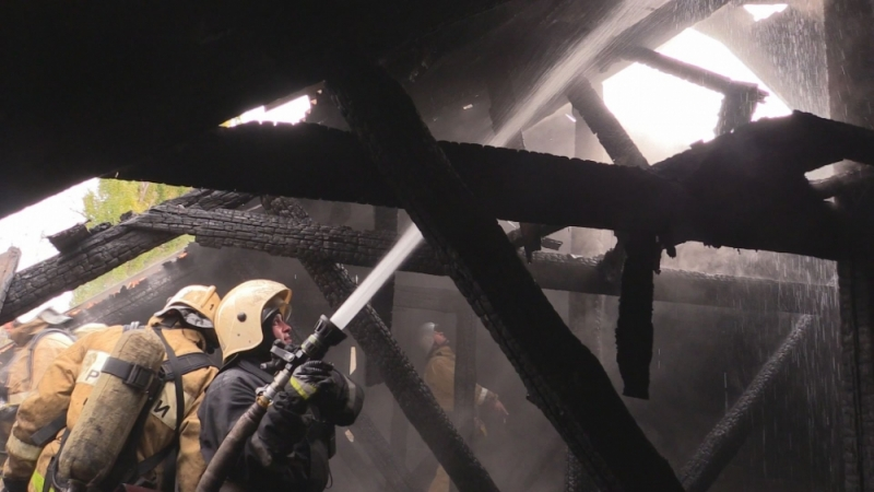 пожар на ул.западной в симферополе