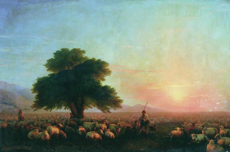 """""""Отара овец"""", 1857 г."""