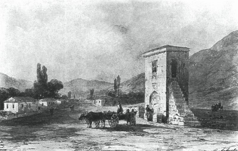"""""""Старый Крым. Фонтан"""", 1858 г."""