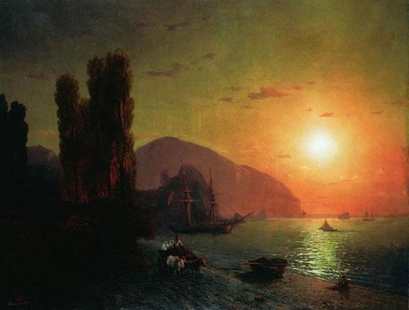 """""""Крымский вид. Аю-Даг"""", 1865 г."""