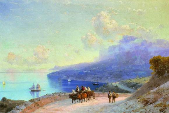 морской берег.крымское побережье у ай-петри. 1890