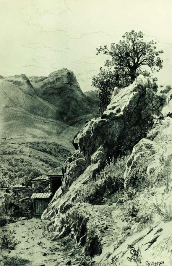 в горах гурзуфа. шишкин