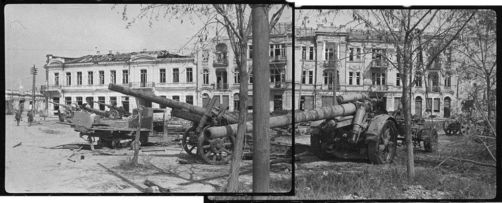 Брошенная немецкая техника в районе Артиллерийской бухты в Севастополе, 12 мая 1944 года