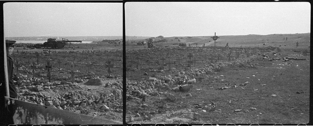 Немецкое кладбище на берегу бухты Козачей