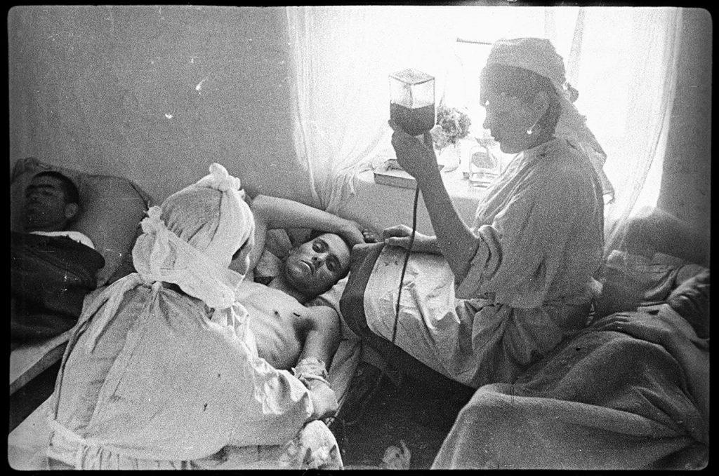 Переливание крови старшине Жуженову, село Ай-Тодор, 22 апреля 1944 года