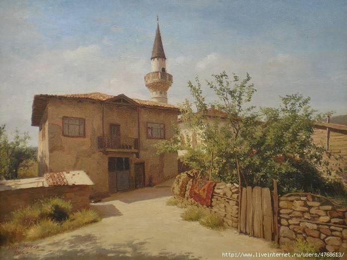 Нури Якубов. Переулок с мечетью.