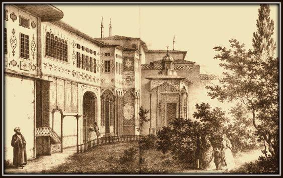 Ханский дворец в Бахчисарае. Литография Ф. Гросса. 1830-е гг.