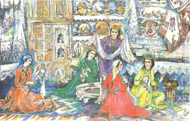 крымские татарки.вышивка