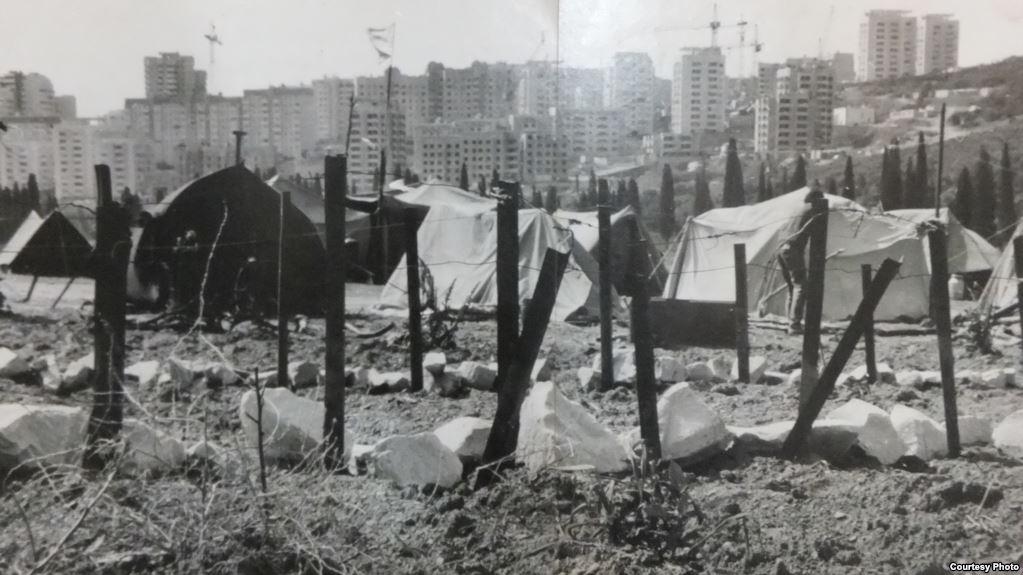 красный рай, палаточный городок