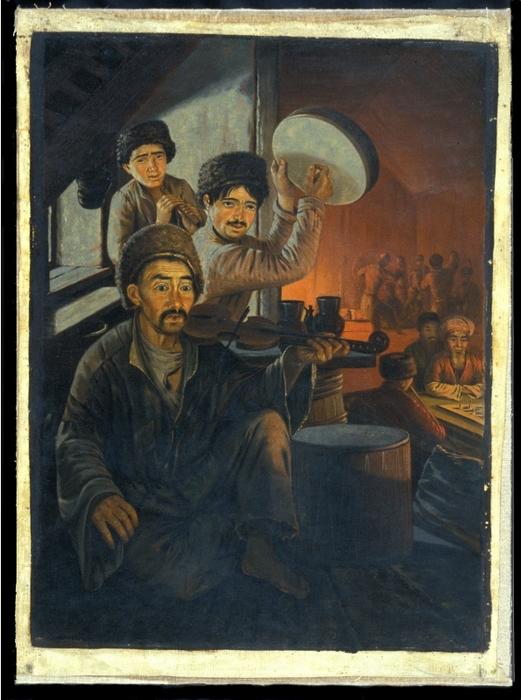 Цыгане-музыканты в татарской кофейне. Картина Вильгельма Кизеветтера. 1845-1847 годы
