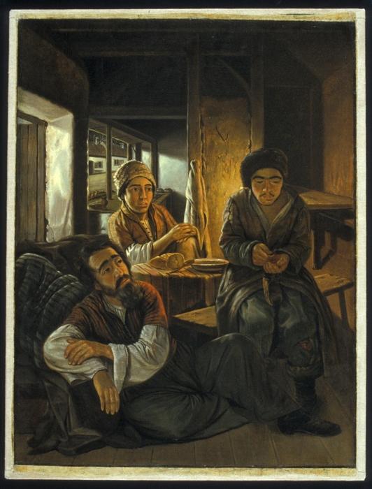 В татарской харчевне. Картина Вильгельма Кизеветтера. 1845-1847 годы.