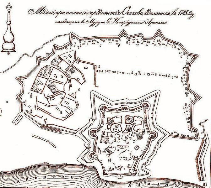 план Очаковской крепости