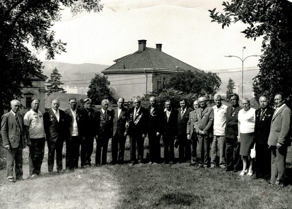 Чехословакия. г. Всетин. 1977 г. На встрече партизан. Э. Бекаев второй слева.