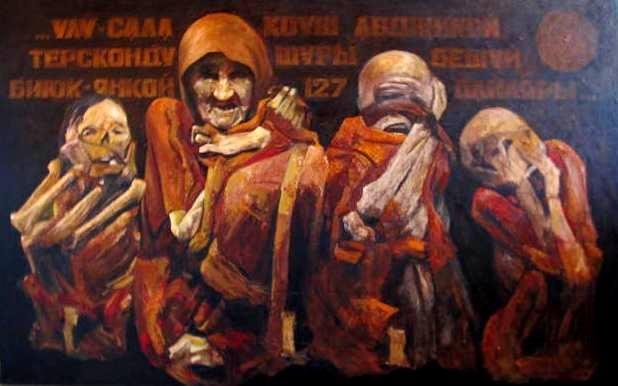 Р. Эминов Черное солнце(жертвам сожженных Крымских селений) 2015 год.