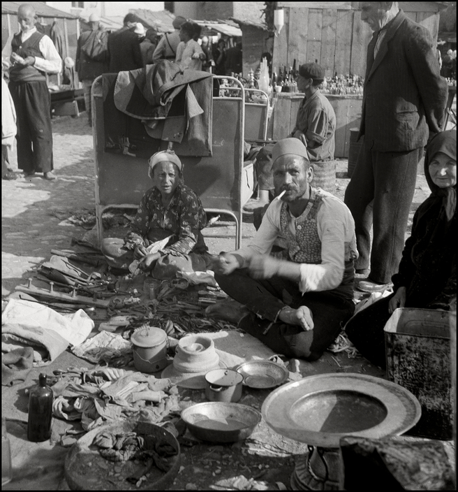 UKRAINE. Crimea.Simferopol. 1943. Salvaged household items being sold by Muslims. M-UK-KRI-036