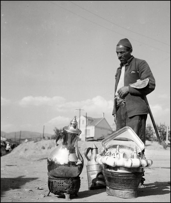 UKRAINE. Crimea.1943. Selling Tea. M-UK-KRI-036
