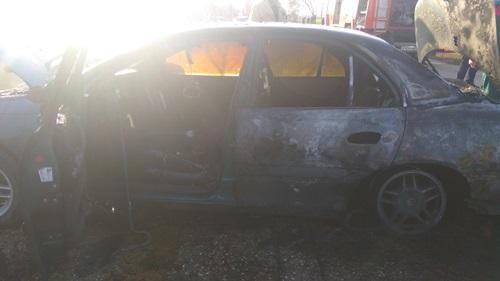 сгорело авто