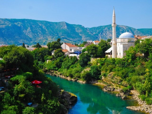 Mostar, Bosnia, Landscape in the summer