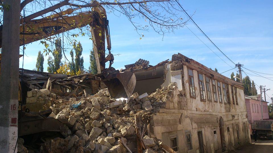 снос исторического здания в бахчисарае