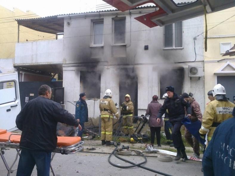 Вдвухэтажном доме вЕвпатории сегодня вспыхнул газ