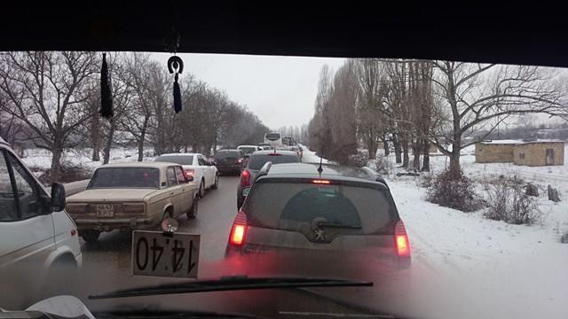 пробка на трассе бахчисарай-симферополь