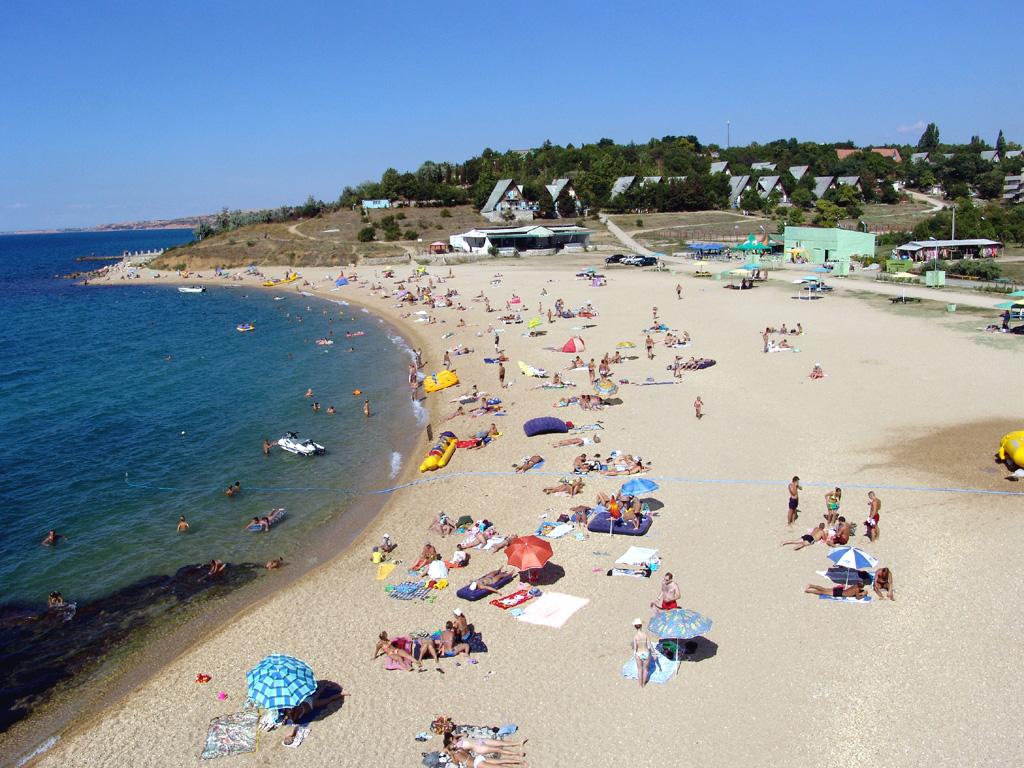 пляж крым