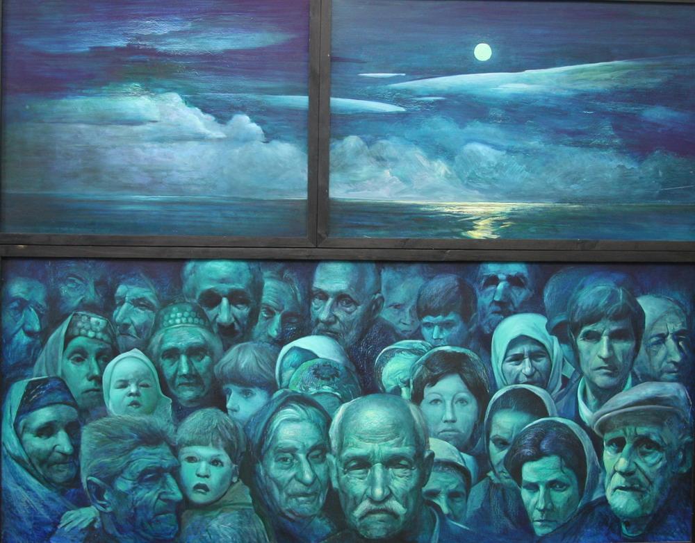 22.Лунная соната.В память жертв на Арабатской стрелке. 2002 г. р.170х200 х.м.